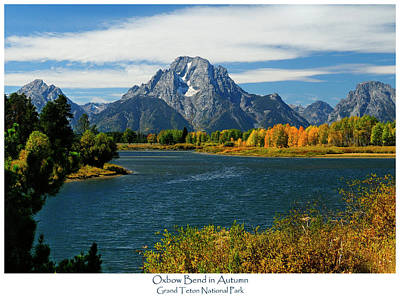 Oxbow Bend In Autumn Art Print
