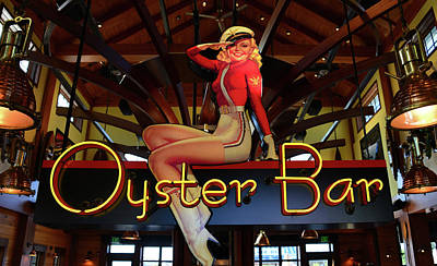 Photograph - Oyster Bar Sign by David Lee Thompson