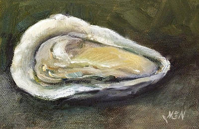 Half Shell Painting - Oyster by Michel McNinch
