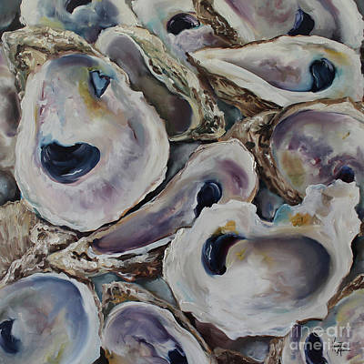 Oyster Painting - Oyster Shells by Kristine Kainer