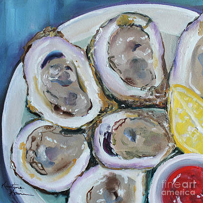 Painting - Oysters On The Half Shell by Kristine Kainer