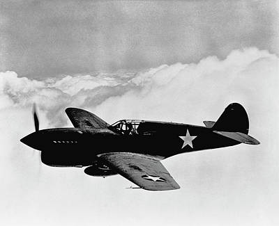 Flying Planes Photograph - P-40 Warhawk by War Is Hell Store