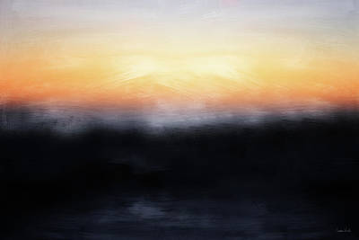 Abstract Landscape Mixed Media - Pacific Sunset- Abstract Art By Linda Woods by Linda Woods