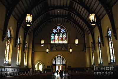 Photograph - Filtered Daylight In Packer Church by Jacqueline M Lewis
