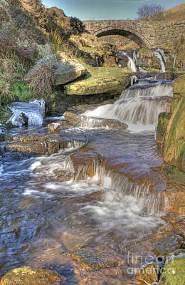 Photograph - Packhorse Bridge At Three Shires Head by David Birchall