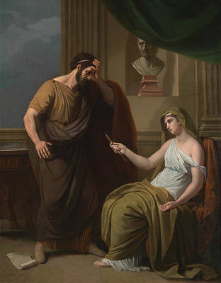 Ancient Roman Painting - Paetus And Arria by Benjamin West