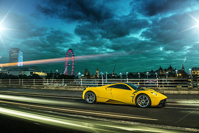 Photograph - Pagani Huayra London by George Williams