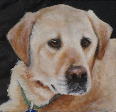Dog Close-up Painting - Paige by Carol Russell