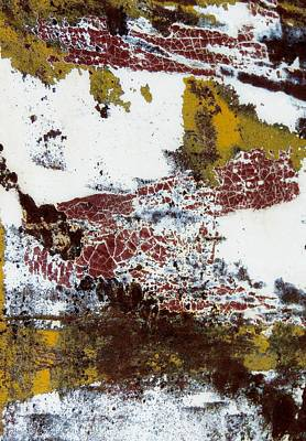 Photograph - Paint And Rust Abstract 1 by Denise Clark