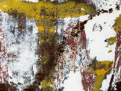 Photograph - Paint And Rust Abstract 2 by Denise Clark