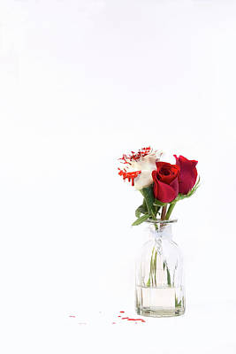 Photograph - Paint The Roses Red by Amber Kresge
