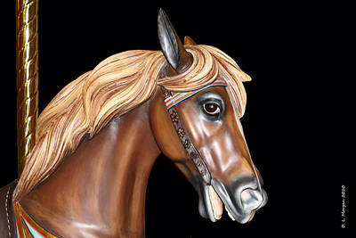 Painted Carousel Horse Original