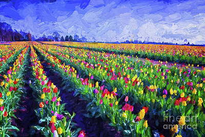 Photograph - Painted Tulips by Billie-Jo Miller