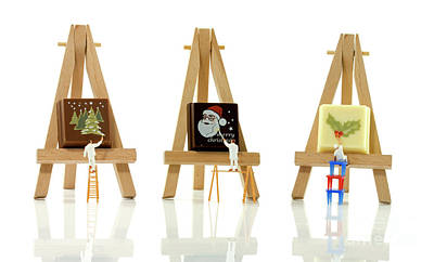 Photograph - Painters Ready For Christmas  by Compuinfoto