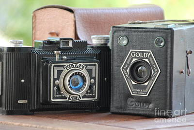 Photograph - Painting With Light ...vintage Cameras  by Lynn England