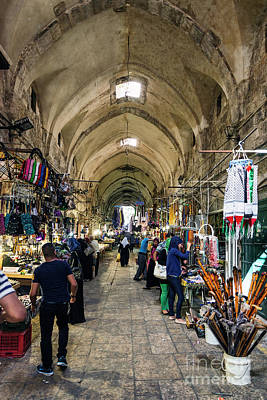 Christmas Christopher And Amanda Elwell - Palestinian Souk Market Street Shops In Jerusalem Old Town Israe by JM Travel Photography