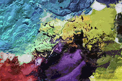 Photograph - Palette Abstraction 5 by John Lautermilch