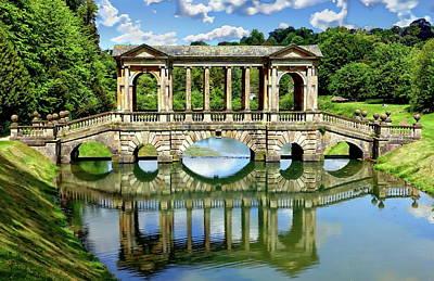 Photograph - Palladian Bridge Nature Scene by Anthony Dezenzio