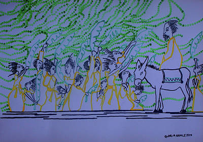 Painting - Palm Sunday by Gloria Ssali