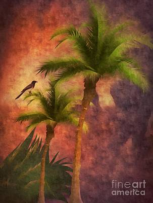 Digital Art - Palm Trees  by Maria Urso