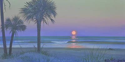 Palmetto Moon Art Print by Blue Sky