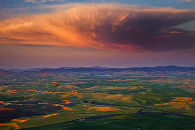Thunderhead Photograph - Palouse Storm by Mike  Dawson