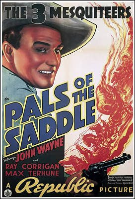 Mixed Media - Pals Of The Saddle 1938 by Mountain Dreams