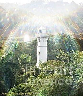 Photograph - Panama Canal Light House by John Potts