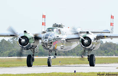North American B-25j Mitchell Photograph - Panchito by Matt Abrams