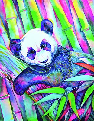 Painting - Panda Bliss by Zaira Dzhaubaeva