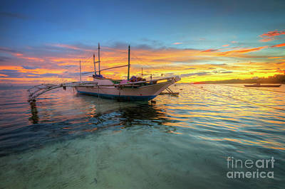 Photograph - Panglao Island Sunrise by Yhun Suarez