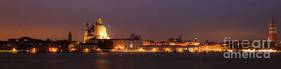 Landscape Photograph - Panorama By Night Of Venice, Italian City by Amanda Mohler
