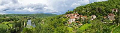 Photograph - Panorama Of Saint Circ Lapopie And Lot River by Semmick Photo