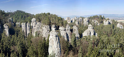 Photograph - Panorama Of The Rock Town In The Bohemian Paradise by Michal Boubin