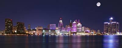 Photograph - Panoramic Detroit  by Frozen in Time Fine Art Photography