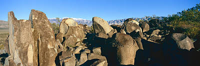Bureau Land Management Photograph - Panoramic Image Of Petroglyphs At Three by Panoramic Images