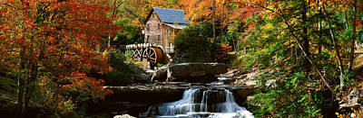 Water Mill Photograph - Panoramic Of Glade Creek Grist Mil by Panoramic Images