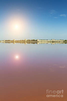 Mediterranean Basin Photograph - Panoramic View Of Aigues-mortes From Salt Flats - Camargue - France by Pier Giorgio Mariani