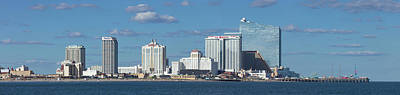 Rollercoaster Photograph - Panoramic View Of Atlantic City, New Jersey by Anthony Totah
