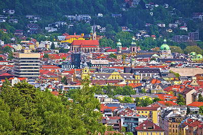 Kids Alphabet Royalty Free Images - Panoramic view of Innsbruck rooftops Royalty-Free Image by Brch Photography