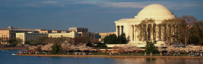 Panoramic View Of Jefferson Memorial Art Print by Panoramic Images