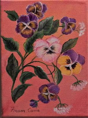 Painting - Pansies by Fram Cama