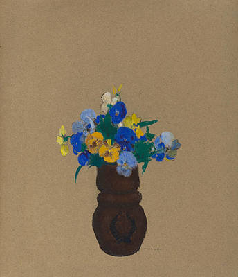 Painting - Pansies by Odilon Redon