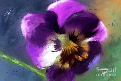 Abstract Shapes Janice Austin Royalty Free Images - Pansy Face Royalty-Free Image by Susan  Lipschutz