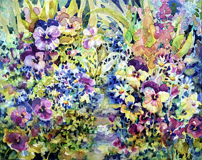 Painting - Pansy Path by Ann Nicholson