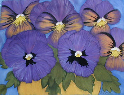 Pansy Power Art Print by Norma Tolliver