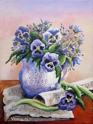 Painting - Purple Pansy by Vesna Martinjak