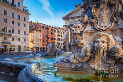 Pantheon Photograph - Pantheon Fountain by Inge Johnsson