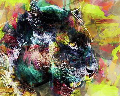 Panther Art Print by Elena Kosvincheva
