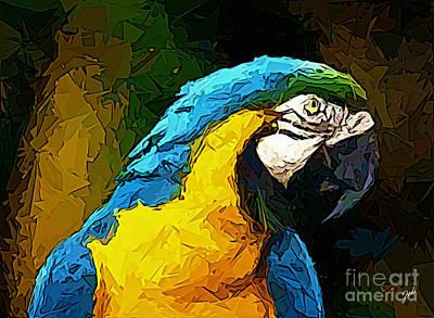 Digital Art - Pappagallo - Parrot Ara Ararauna by Zedi
